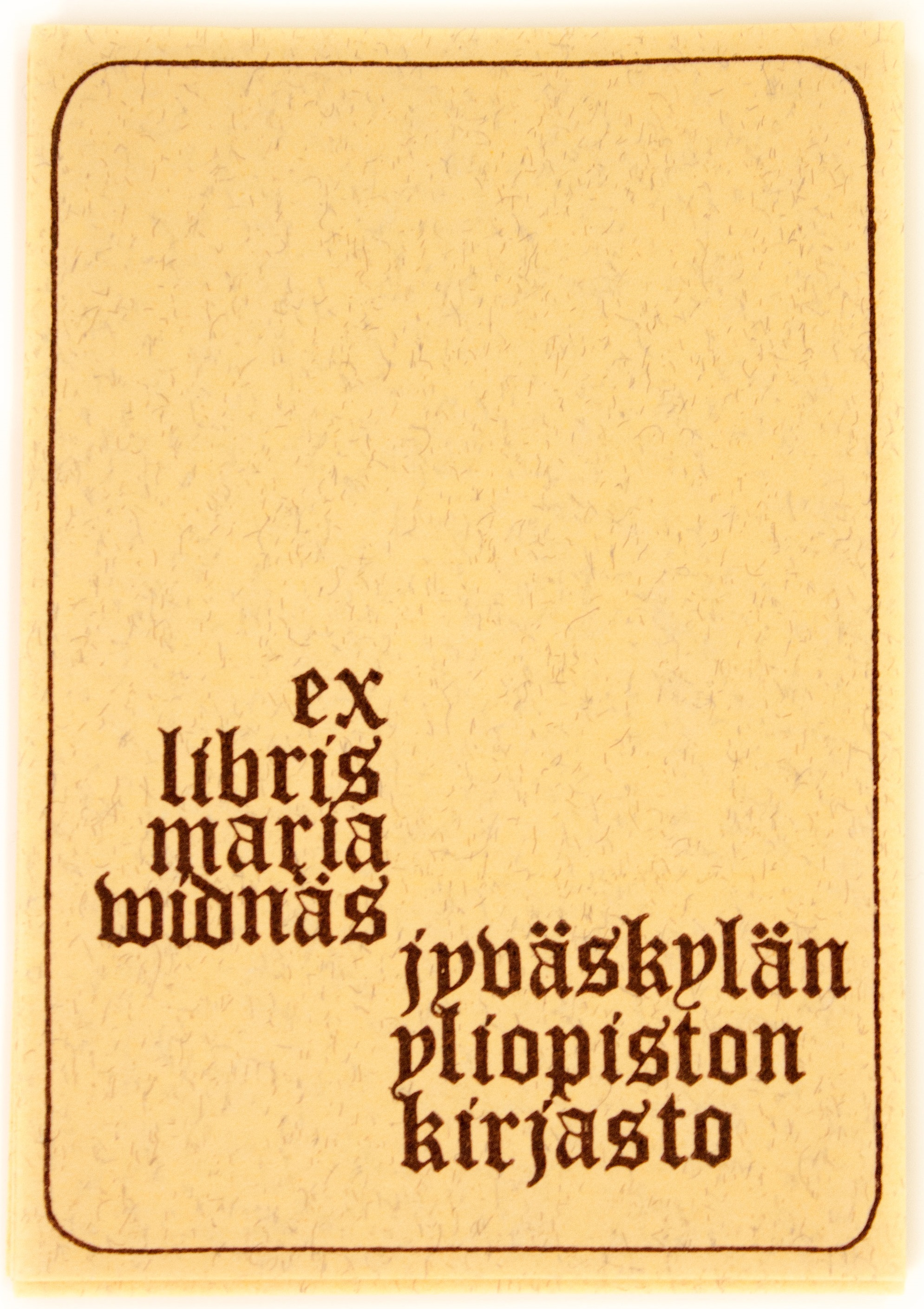 Maria Widnäsin ex libris