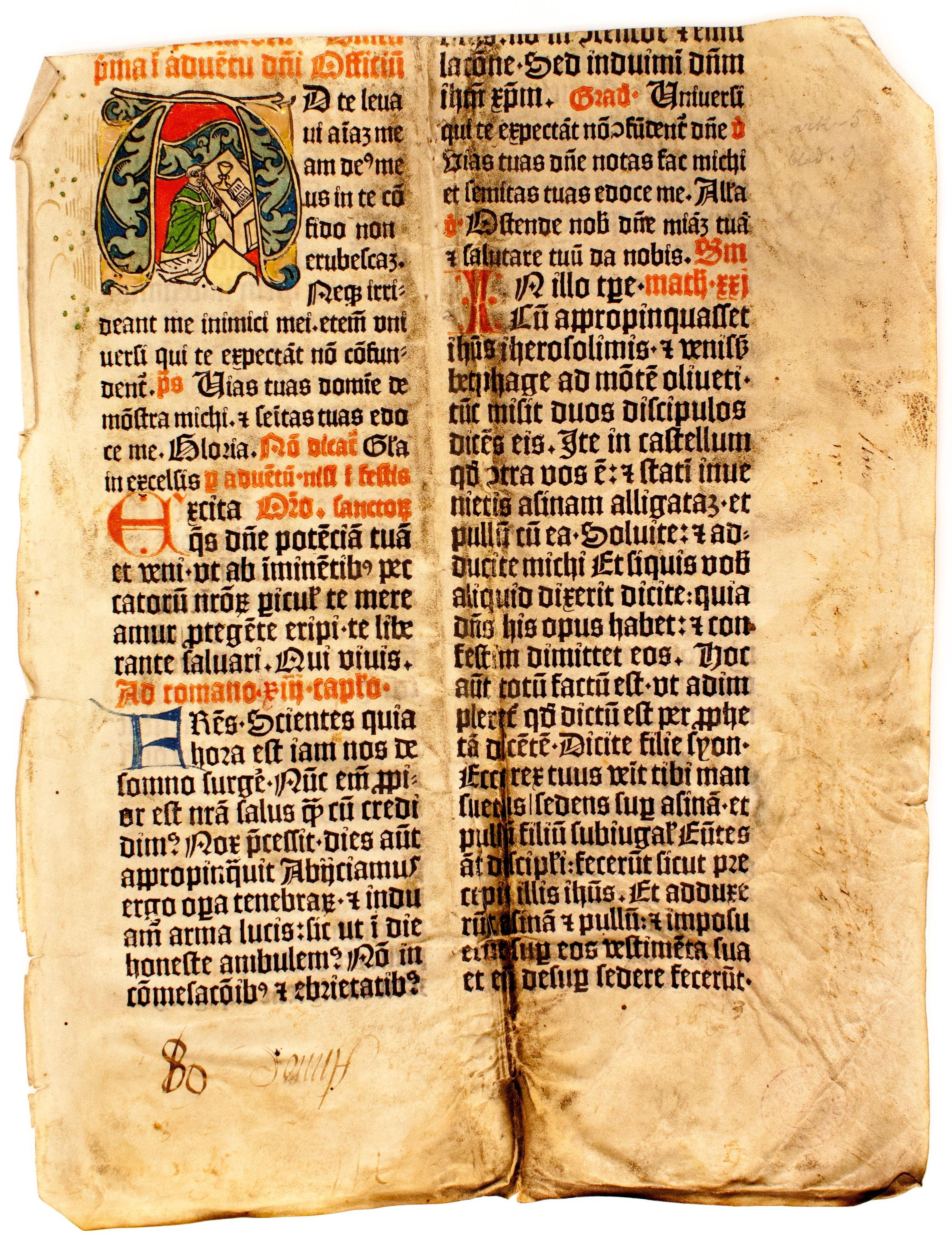 Missale Aboensen sivu